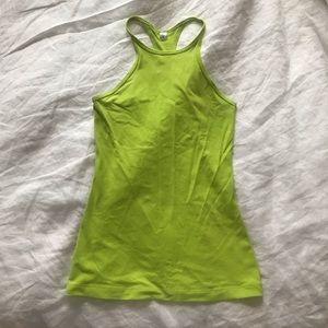 Lululemon neon green tank top sz 4